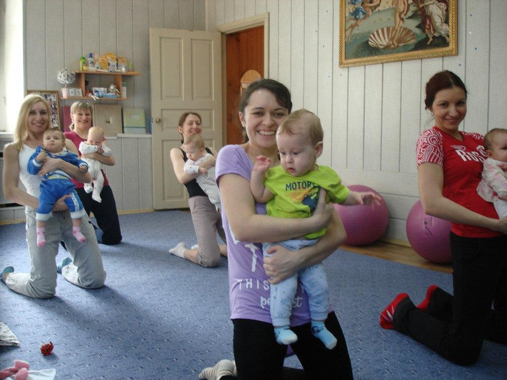 Курсы гимнастики с детьми.